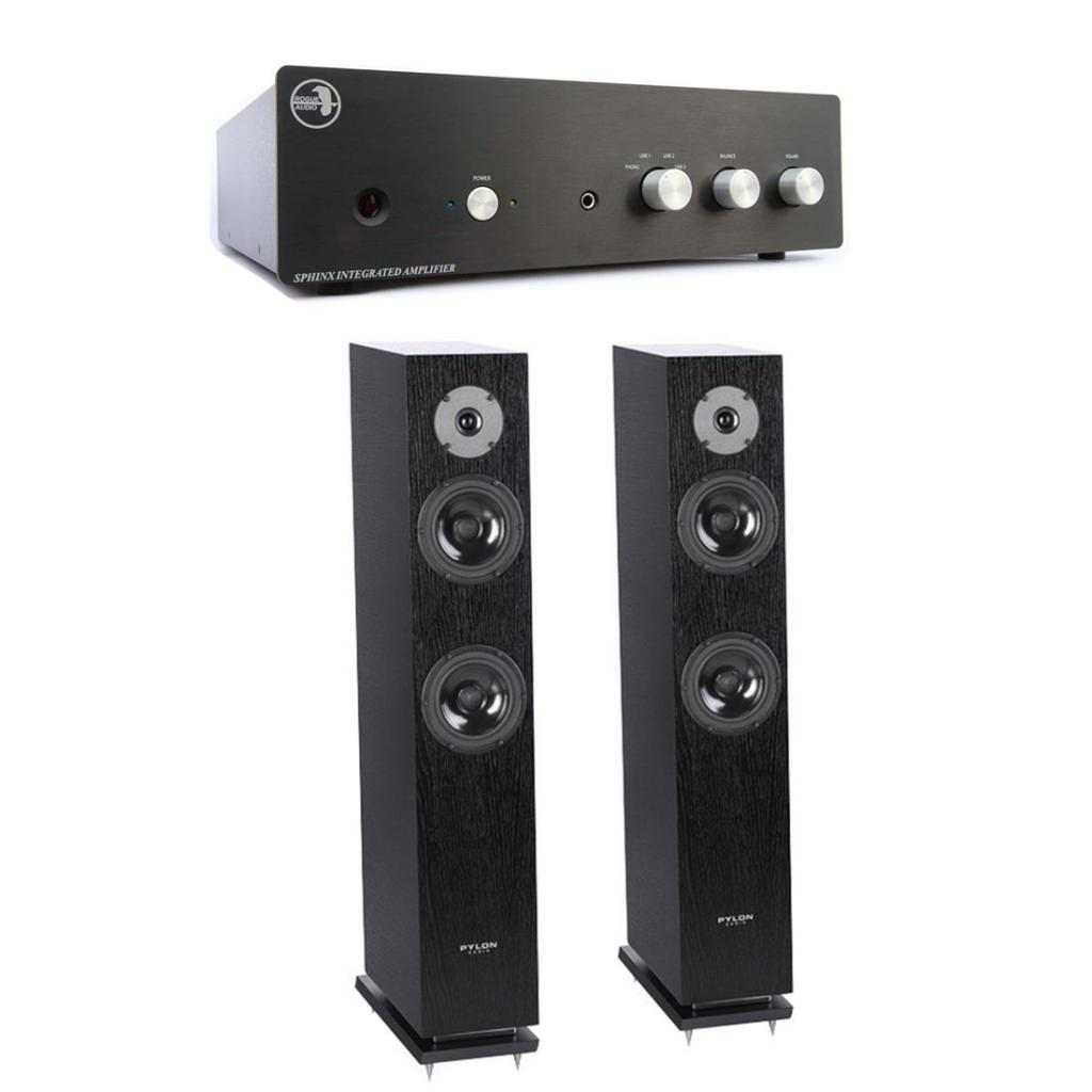 Pachet Amplificator Integrat Rogue Audio Sphinx V2 + Boxe Pylon Audio Diamond 25