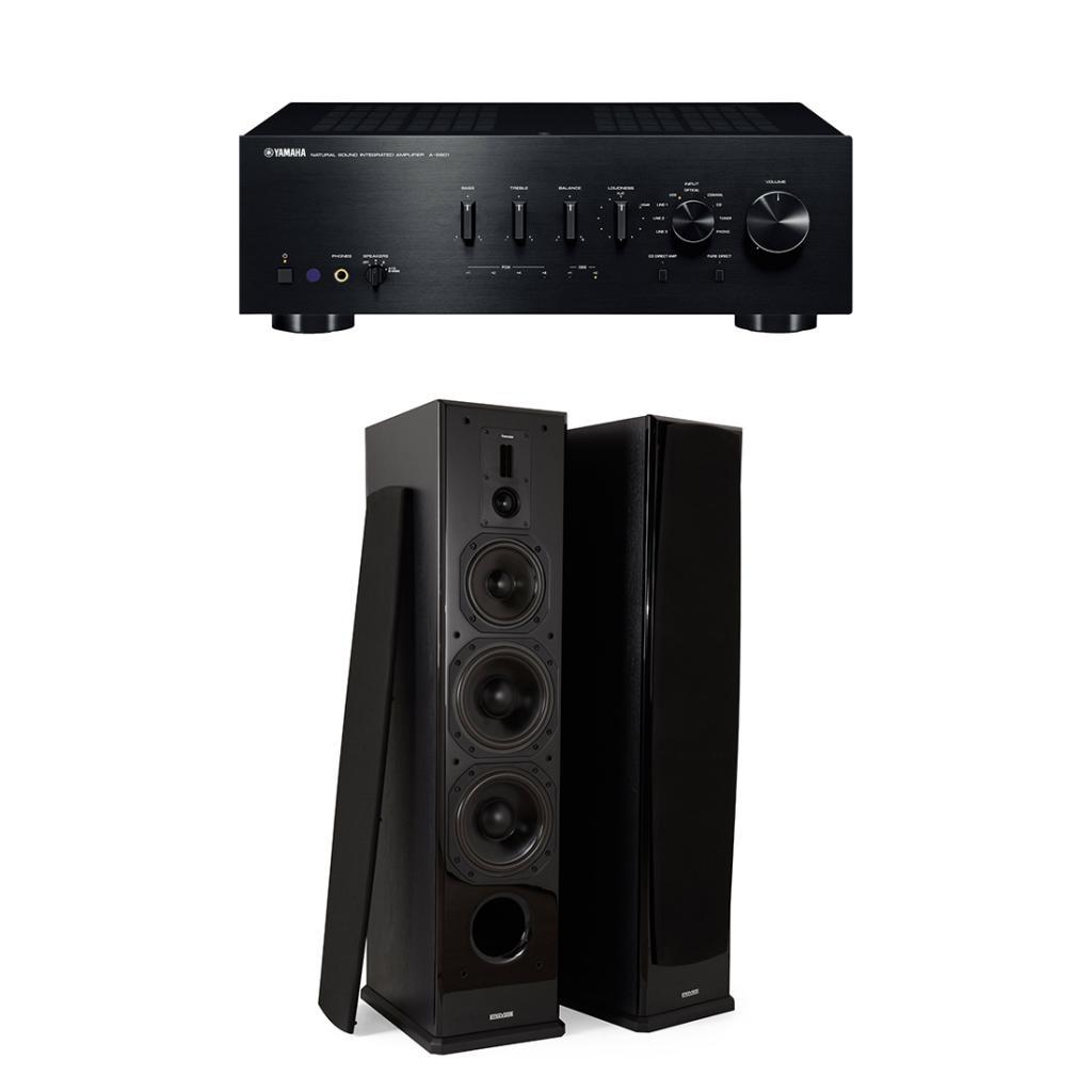 Pachet Amplificator Integrat Yamaha A-S801 + Boxe Dynavoice Definition DF-8