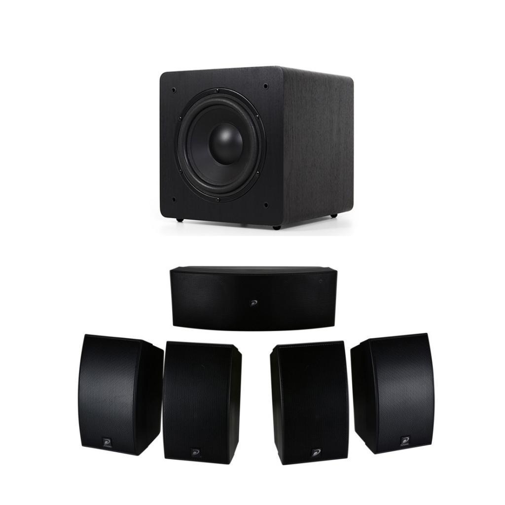 Pachet Boxe Dayton Audio HTS-1200B + Subwoofer Dynavoice Magic Sub 8 Ex V.3