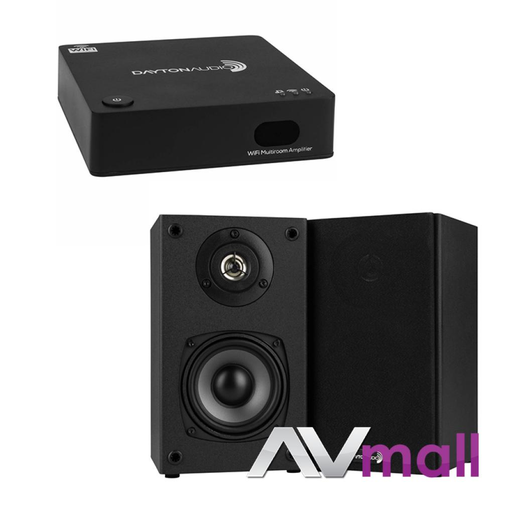 Pachet Amplificator Integrat Dayton Audio WF40A Multi-Room Wi-Fi + Boxe Dayton Audio B452