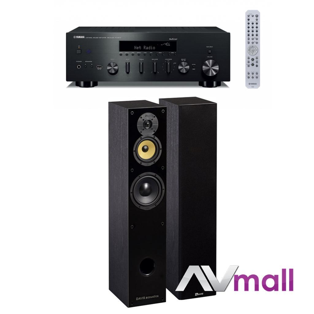 Pachet Amplificator Receiver Yamaha R-N602 + Boxe Davis Acoustics Balthus 50