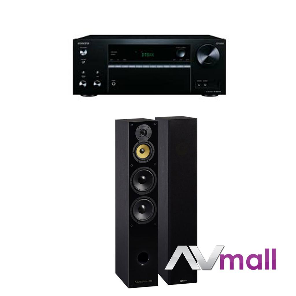 Pachet Receiver AV Onkyo TX-NR575E + Boxe Davis Acoustics Balthus 70