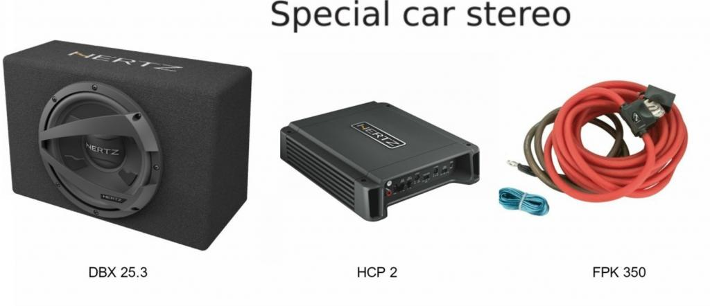Pachet Bass Compact Hertz 600W