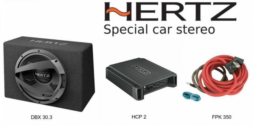 Pachet Bass Compact Hertz 1000W