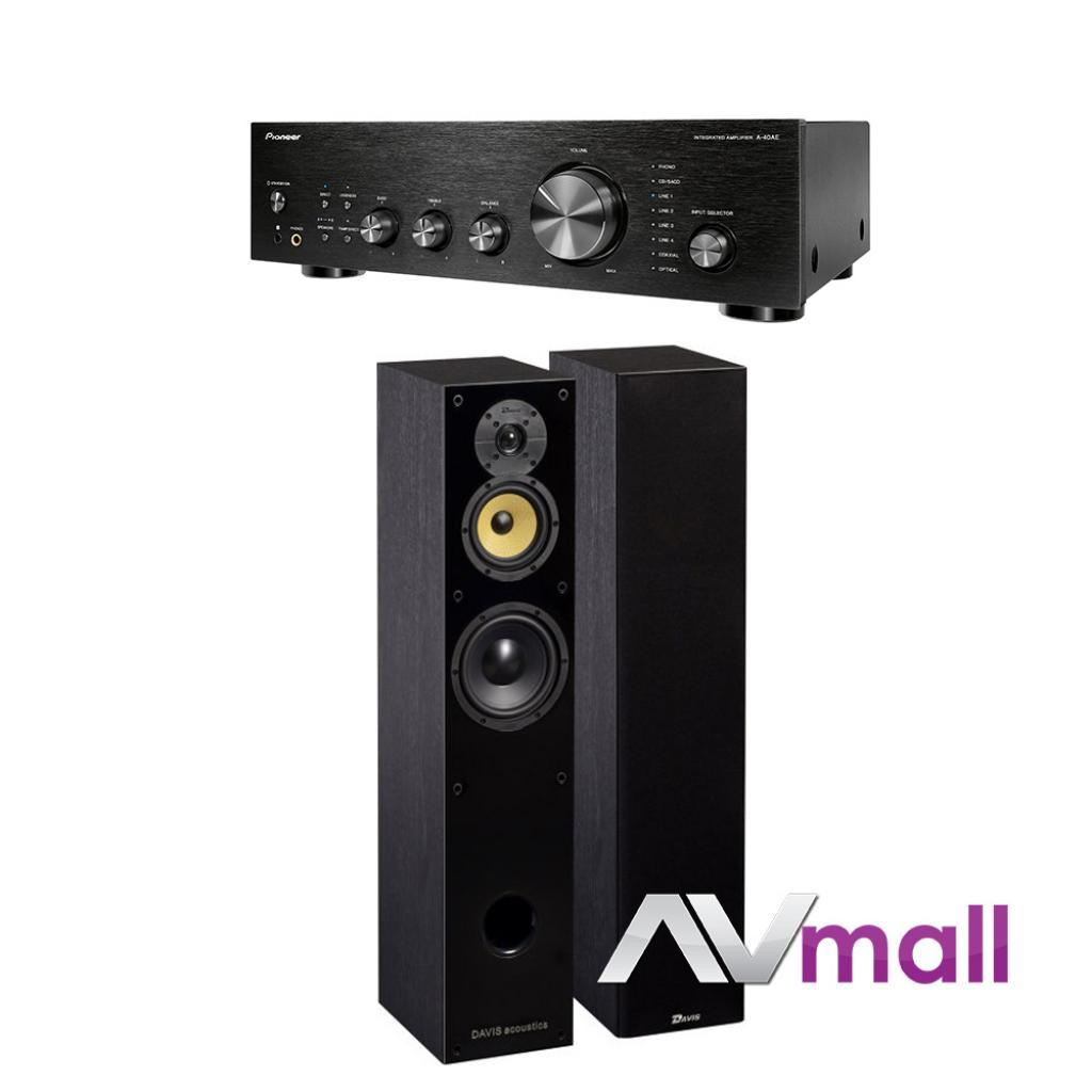 Pachet Amplificator Integrat Pioneer A-40AE + Boxe Davis Acoustics Balthus 50