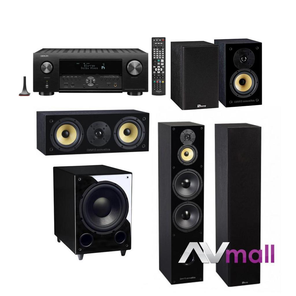Pachet Receiver AV Denon AVC-X6500H + Pachet Boxe Davis Acoustics Balthus 90 + Boxe Davis Acoustics Balthus 30 + Boxa Davis Acoustics Balthus 10 + Subwoofer Davis Acoustics Basson 77
