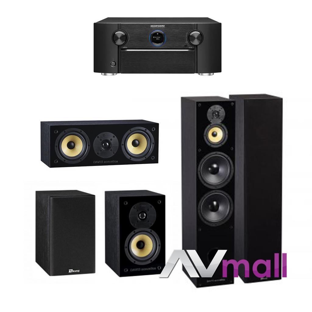 Pachet Receiver AV Marantz SR7013 + Pachet Boxe Davis Acoustics Balthus 90 + Boxe Davis Acoustics Balthus 30 + Boxa Davis Acoustics Balthus 10