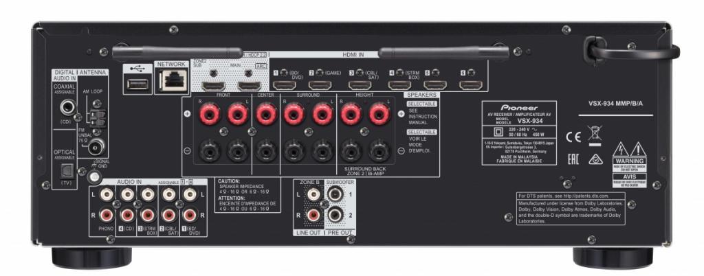 Receiver AV Pioneer VSX-934