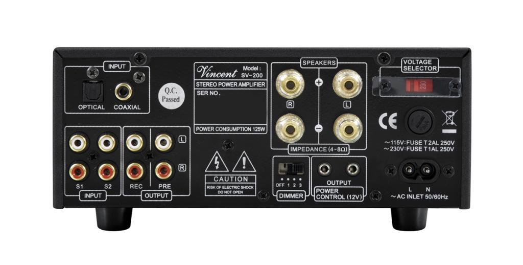Amplificator Integrat Hybrid Vincent SV-200 Negru