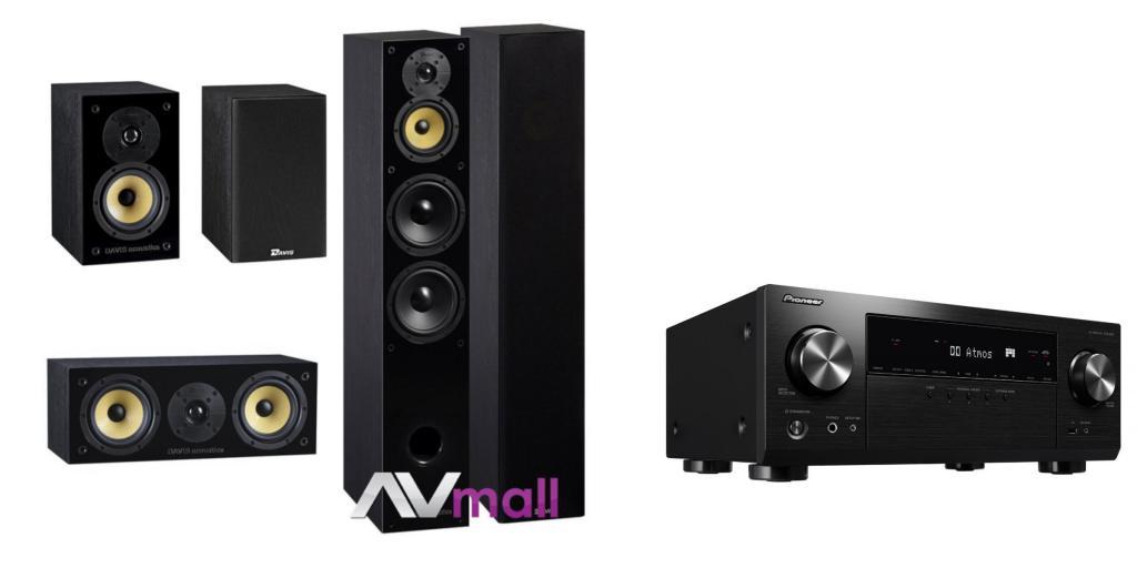 Pachet Receiver AV Pioneer VSX-934 + Pachet Boxe Davis Acoustics Balthus 70 + Boxe Davis Acoustics Balthus 30 + Boxa Davis Acoustics Balthus 10