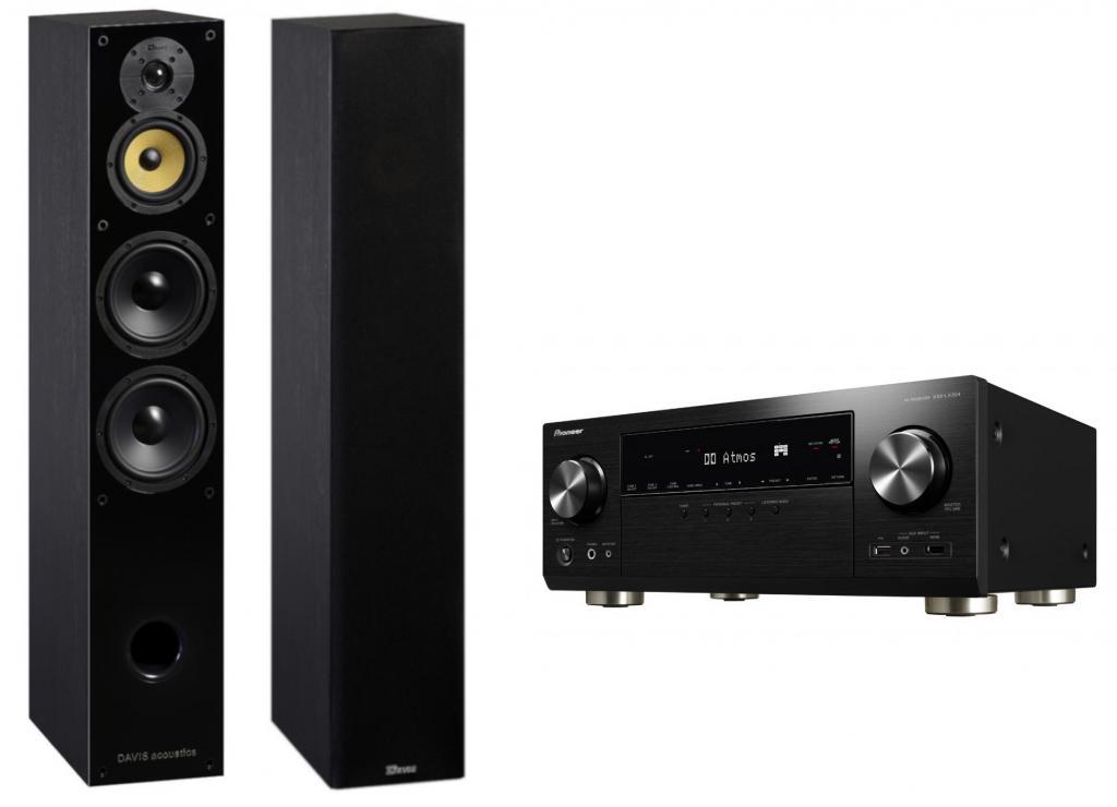Pachet Receiver AV Pioneer VSX-LX304 + Boxe Davis Acoustics Balthus 70