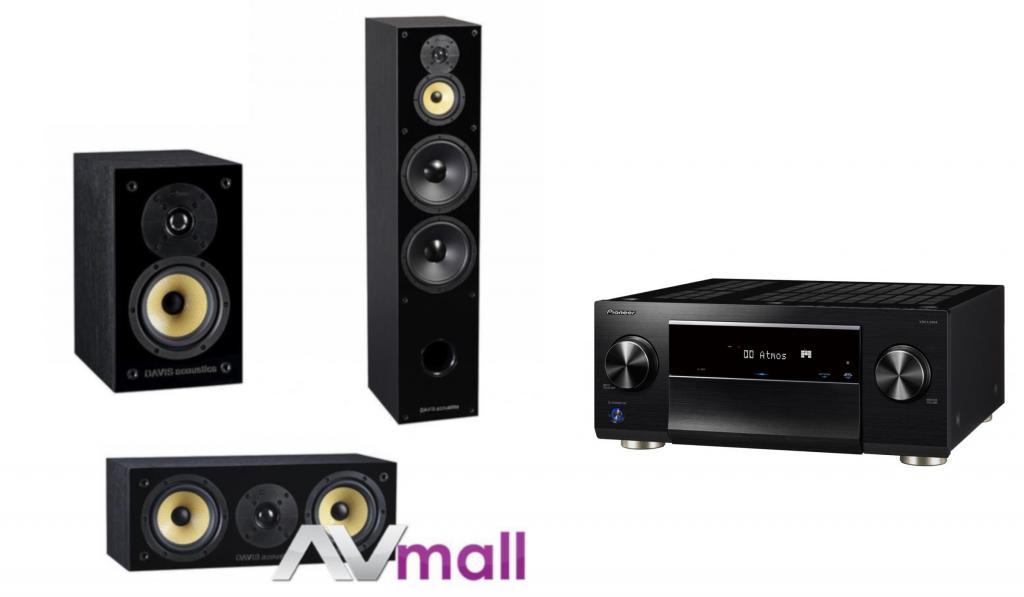 Pachet Receiver AV Pioneer VSX-LX504 + Pachet Boxe Davis Acoustics Balthus 90 + Boxe Davis Acoustics Balthus 30 + Boxa Davis Acoustics Balthus 10