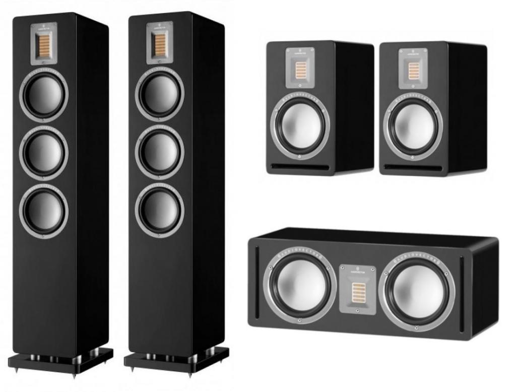 Pachet Boxe Audiovector QR 5 + Boxe Audiovector QR 1 + Boxa Audiovector QR C Walnut