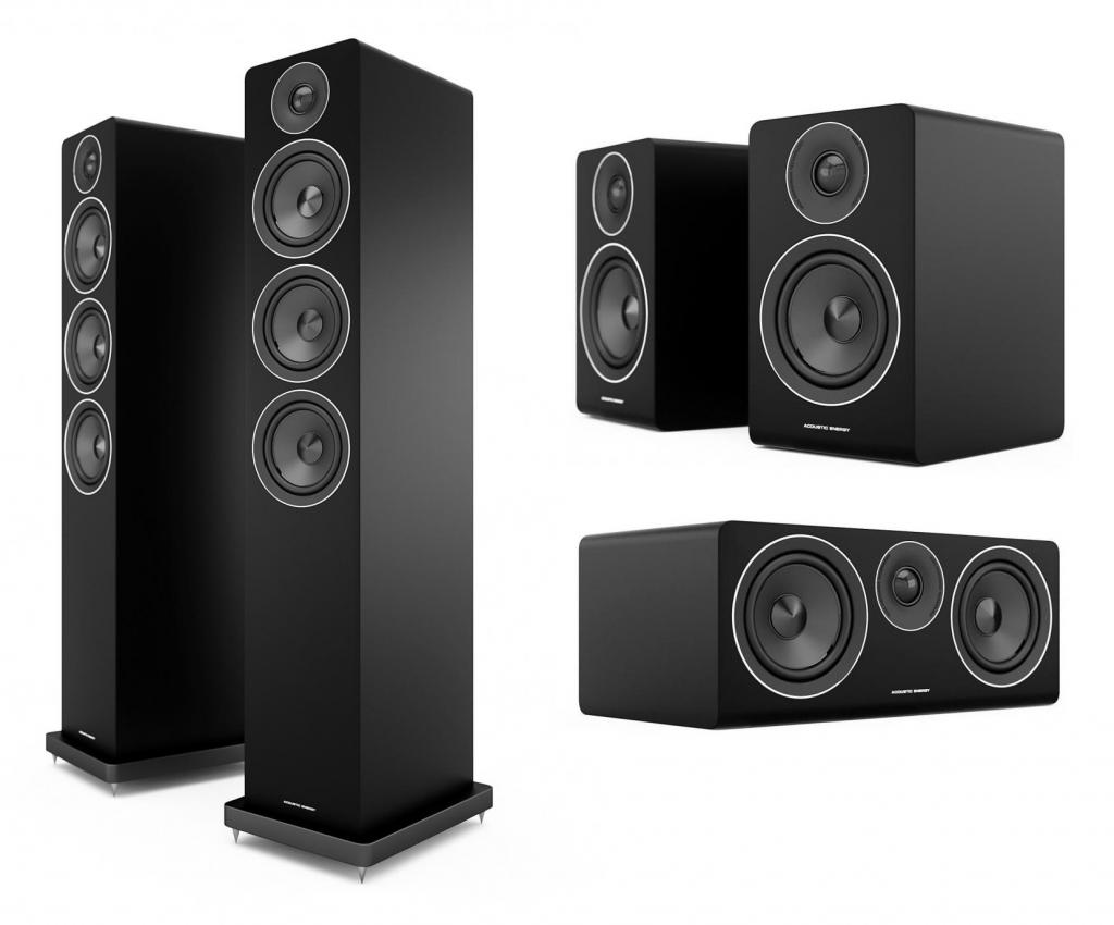 Pachet Boxe Acoustic Energy AE120 Negru + Boxe Acoustic Energy AE100 Negru + Boxa Acoustic Energy AE107 Negru