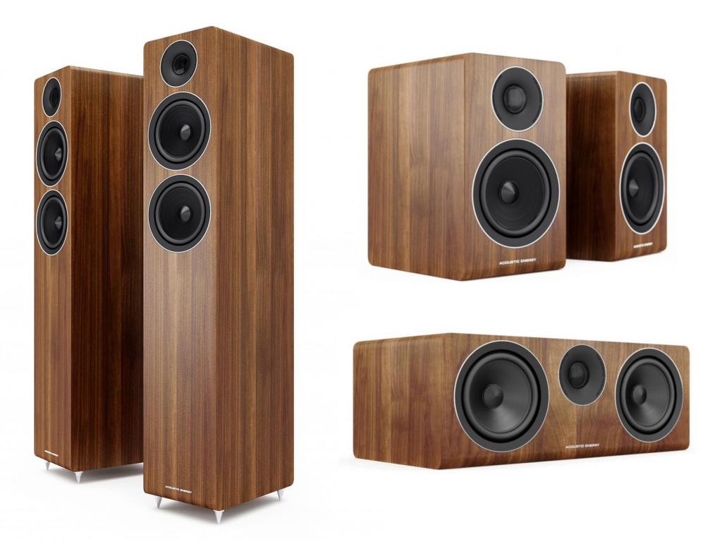 Pachet Boxe Acoustic Energy AE309 Walnut + Boxe Acoustic Energy AE300 Walnut + Boxa Acoustic Energy AE307 Walnut